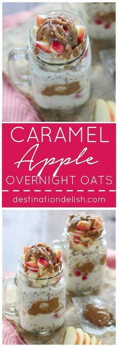 Caramel Apple Overnight Oats | Destination Delish