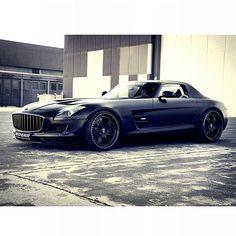 Dark grey/black Mercedes Benz SLS! Now that's class!