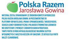 Na końcu filmów Jarosława Gowina możemy przeczytać informacjędot. finansowania partii politycznych.
