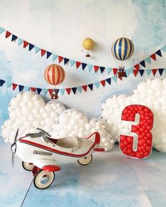 Image may contain: shoes Birthday Cake Smash, 1st Boy Birthday, 1st Birthday Parties, Planes Birthday, Airplane Party, Birthday Photography, Birthday Photos, Balloon Decorations, Balloons
