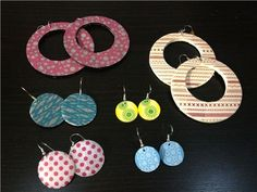 easy DIY: Washi Tape earrings http://blog.modes4u.com/community/diy-washi-tape-earrings.html