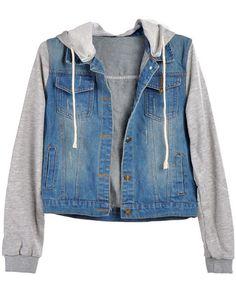 Denime Sweater Jacket Hooded Jean Jackets 50ec9dc182c1