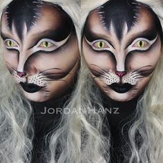 BLACK CAT Halloween make up
