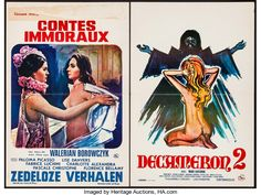 """Movie Posters:Adult, Immoral Tales & Other Lot (Elan, 1974). Belgians (2) (14.25"""" X21.75""""n 14.5"""" X 21.5""""). Adult.. ... (Total: 2 Items)"""