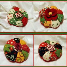 Pincushions made out of Mary Engelbreit fabric. So cute!