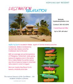 Picture Perfect: http://www.hopkinsbaybelize.com/wp-content/themes/hopkins_bay_resort/images/Picture%20Perfect.pdf