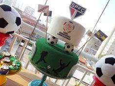 Bolo falso / bolo fake personalizado - Copa Libertadores - SPFC