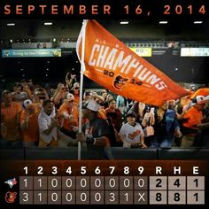 Os clinch AL East !!!! I was there !!!!!!!