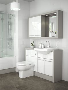 Toilet Vanity Unit, Toilet And Sink Unit, Small Toilet Room, Small Bathroom, Bathroom Goals, Bathroom Ideas, Fitted Bathroom Furniture, Bathroom Remodelling, Brick Bbq