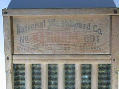 Vintage RUSTIC Wood WASHBOARD National    Perfect for laundry room display!   by LavenderGardenCottage etsy