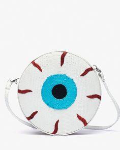 Gelareh Mizrahi Eye See You Python Clutch Ugly Purses, Purses And Bags, Coin Purses, White Clutch, White Handbag, Fashion Cover, Women's Fashion, White Purses, Snake Print