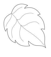 Moldes de hojas de otoño