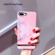 >> Click to Buy << Pink Granite Marble Golden Stripes hard case Phone Back Cover Case For iPhone 7 For iPhone 6 6S 7 Plus Phone Bags & Cases Capa #Affiliate