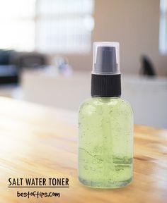 DOMOWE TONER słonej wodzie dla skóry tłustej