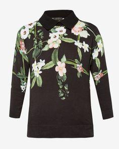 d6089559262e58 Secret Trellis collar sweater - Black