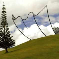 Neil Dawson's Horizons sculpture is an incredible optical illusion located in New Zealand on 'The Farm,' a large private art park owned by Alan Gibbs.