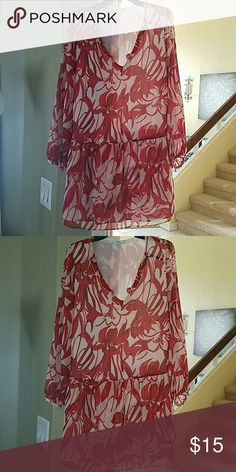 Red and tan MNG dress size 6 Red and tan MNG dress size 6...dress is used but in good condition MNG Dresses