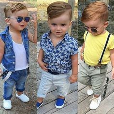 #Handsome #Hunk  @fashion_dael #comeandglam Baby Boy Dress, Cute Baby Boy Outfits, Baby Boy Swag, Boys Summer Outfits, Toddler Boy Outfits, Kids Outfits, Boys First Birthday Shirt, Toddler Haircuts, Baby Dress Design