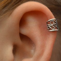 Ear Cuff - Filigree - Cartilage - Sterling Silver - SINGLE SIDE. $14.00, via Etsy.