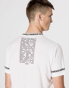 World Famous text T-shirt - T-shirts - Clothing - Man - PULL&BEAR United Kingdom #t-shirt
