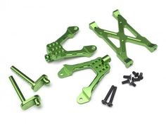 Boom Racing #BR233010G Aluminum Rear Shock Mount - 1 Set Green [RECON G6 The Fix Certified] for Axial SCX10