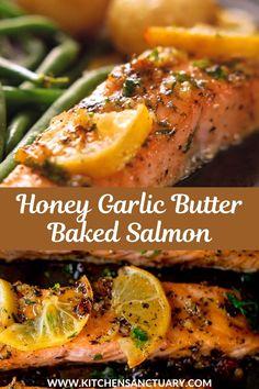 Baked Salmon Recipes, Seafood Recipes, Vegetarian Recipes, Dinner Recipes, Healthy Recipes, Baked Salmon Easy, Recipes For Salmon Filets, Healthy White Fish Recipes, Simple Salmon Recipe
