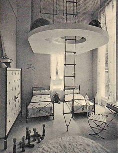 1930's Jean Royere Children's Room...I would have loved to be able to have something like this for my kids when they were young.