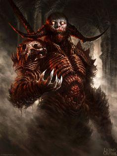 Legend of the Cryptids Demon dude ver 1 by *DavidRapozaArt on deviantART