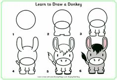 Learn to draw a donkey.