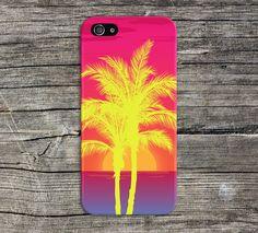 Neon Palm Trees x Island Sunset Phone Case, iPhone 6, iPhone 6 Plus, Tough…