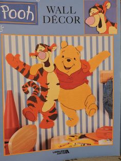 Pooh Wall Decor Disney's Winnie the Pooh Tigger Piglet Eeyore Instructions and Designs for Plastic Canvas Leisure Arts Booklet No. 1950 Sewing Patterns For Kids, Vintage Sewing Patterns, Eeyore, Tigger, Disney Wall Decor, Raggedy Ann And Andy, Disney Winnie The Pooh, Cross Stitch Designs, Plastic Canvas