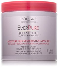 cool L'Oreal Paris EverPure Sulfate-Free Color Care System Moisture Restorative Hair Masque, 5.1 Fluid Ounce Check more at http://luxurybeauty.4mytop.com/loreal-paris-everpure-sulfate-free-color-care-system-moisture-restorative-hair-masque-5-1-fluid-ounce/