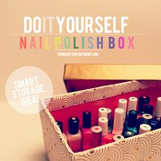 A smart way to store your nail polish