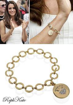RepliKate of gold charm bracelet £22