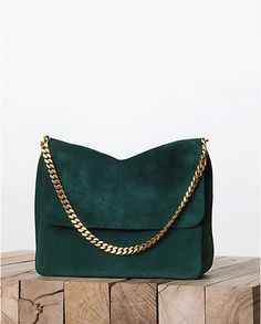 CELINE PARIS Fall/Winter emerald purse