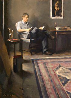 Young man reading, 2005 Elise reading, 2003 Tim reading, 2004 Peter van Dyck born 1978 in Philadelphia (Pennsylv...