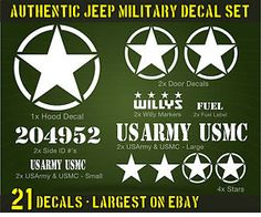 willys jeep decals - Google Search