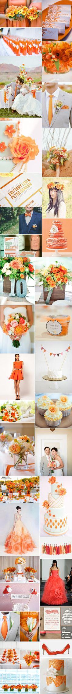 [Inspiration] Mariage orange Plus Wedding Themes, Our Wedding, Dream Wedding, Wedding Decorations, Tangerine Wedding, Orange Wedding Colors, Autumn Wedding, Spring Wedding, Wedding Planner