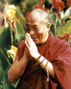 """And today we hear from the Dali Lama!    """"For as long as space endures, and for as long as living beings remain, Until then may I too abide to dispel the misery of the world."""""""