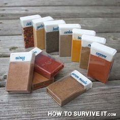 Can't live without your spices? Use Tic Tac containers to bring them camping.