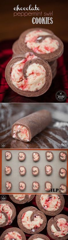 Chocolate Peppermint Swirl Cookies are a fun and festive holiday treat that combine the sweet flavors of chocolate and peppermint with a sugar cookie base