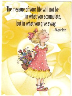Measure of Your Life in What You Give Away Fridge Magnet Mary Engelbreit Artwork   eBay
