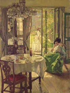A Chelsea Interior by Philip Connard (English 1875-1958)