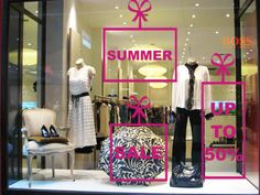 summer retail window ideas | Wrap your SALE up as a gift. The Season and discount can be specified ...