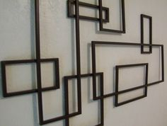 Geometric Metal Wall Art mid century modern ~ de stijl style geometric metal wall sculpture