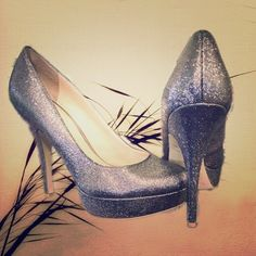 """Glittery Pumps Very stylish and cute glittery pumps. 7M, 5"""" heel. Enzo Angiolini Shoes Heels"""