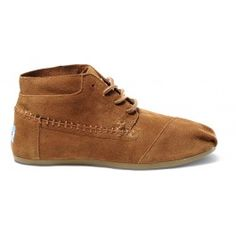 TOMS Chestnut Suede Tribal Boots // warm honey colors for fall