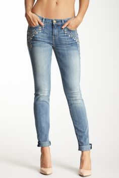 Current/Elliott The Rolled Skinny + Embroidery Details ~ Saturday