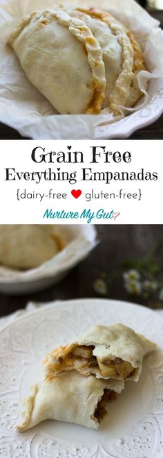 Delicious Grain Free Everything Empanadas made from Grain free Everything Dough! These savory empanadas are stuffed with homemade Mexican Picadillo which is a blend of ground beef, vegetables and spices. Gluten free, grain free, Paleo friendly and dairy free. Use this basic recipe to make any sweet or savory empanada your heart desires!