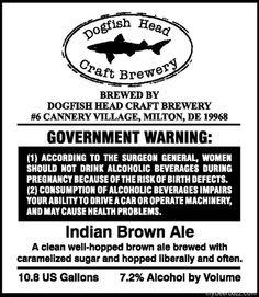 Dogfish Head India Brown Ale 10.8 Gallon
